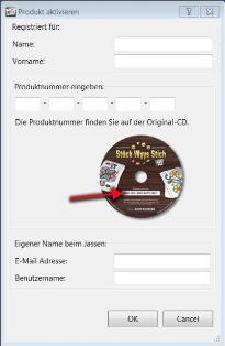 Registrierung nun mit OK Button !